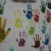 Handprints of Computer Class Graduates